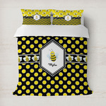 Bee & Polka Dots Duvet Cover (Personalized)