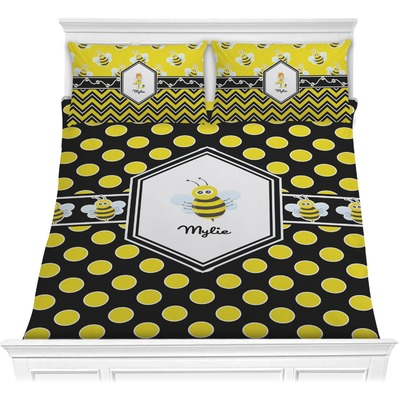 Bee & Polka Dots Comforters (Personalized)
