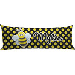 Bee & Polka Dots Body Pillow Case (Personalized)