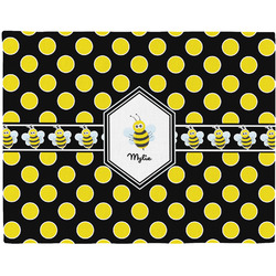 Bee & Polka Dots Placemat (Fabric) (Personalized)