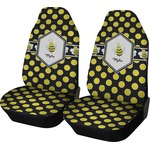 Bee & Polka Dots Car Seat Covers (Set of Two) (Personalized)