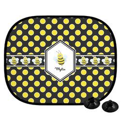 Bee & Polka Dots Car Side Window Sun Shade (Personalized)