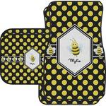 Bee & Polka Dots Car Floor Mats (Personalized)