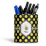 Bee & Polka Dots Ceramic Pen Holder