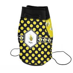 Bee & Polka Dots Neoprene Drawstring Backpack (Personalized)