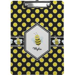 Bee & Polka Dots Clipboard (Personalized)