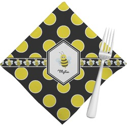 Bee & Polka Dots Napkins (Set of 4) (Personalized)