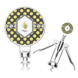 Bee & Polka Dots Corkscrew (Personalized)
