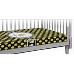 Bee & Polka Dots Crib Fitted Sheet (Personalized)
