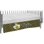 Bee & Polka Dots Crib Skirt (Personalized)