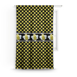"Bee & Polka Dots Curtain - 50""x84"" Panel (Personalized)"