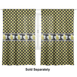 Bee & Polka Dots Custom Sized Curtain Panel (Personalized)