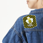 Bee & Polka Dots Large Custom Shape Patch (Personalized)