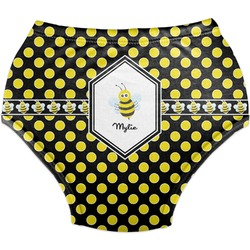 Bee & Polka Dots Diaper Cover (Personalized)