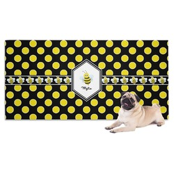 Bee & Polka Dots Pet Towel (Personalized)