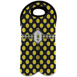 Bee & Polka Dots Wine Tote Bag (2 Bottles) (Personalized)