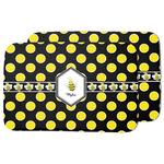 Bee & Polka Dots Dish Drying Mat (Personalized)