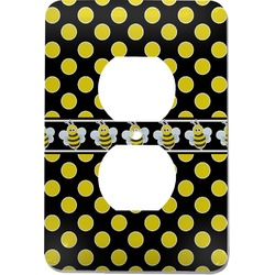 Bee & Polka Dots Electric Outlet Plate (Personalized)