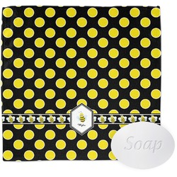 Bee & Polka Dots Wash Cloth (Personalized)