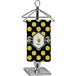 Bee & Polka Dots Finger Tip Towel - Full Print (Personalized)