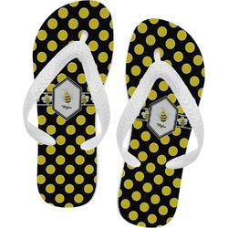 Bee & Polka Dots Flip Flops (Personalized)