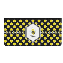Bee & Polka Dots Genuine Leather Checkbook Cover (Personalized)