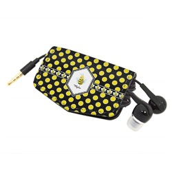 Bee & Polka Dots Genuine Leather Cord Wrap (Personalized)