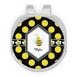 Bee & Polka Dots Golf Ball Marker - Hat Clip