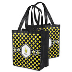 Bee & Polka Dots Grocery Bag (Personalized)