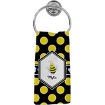 Bee & Polka Dots Hand Towel - Full Print (Personalized)