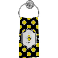 Bee & Polka Dots Hand Towel - Full Print (Personalized)