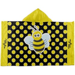 Bee & Polka Dots Kids Hooded Towel (Personalized)