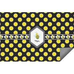 Bee & Polka Dots Indoor / Outdoor Rug (Personalized)