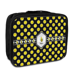 Bee & Polka Dots Insulated Lunch Bag (Personalized)