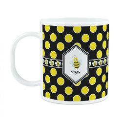 Bee & Polka Dots Plastic Kids Mug (Personalized)