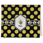 Bee & Polka Dots Kitchen Towel - Full Print (Personalized)
