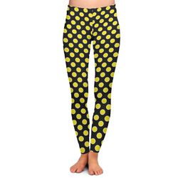 Bee & Polka Dots Ladies Leggings - Extra Large (Personalized)