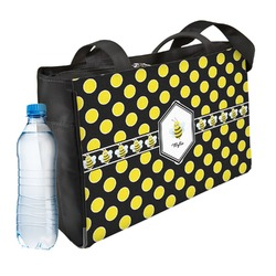 Bee & Polka Dots Ladies Workout Bag (Personalized)
