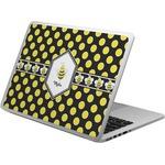 Bee & Polka Dots Laptop Skin - Custom Sized (Personalized)