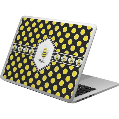 Bee & Polka Dots Laptop Skin - Custom Sized (Personalized)