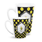 Bee & Polka Dots Latte Mug (Personalized)