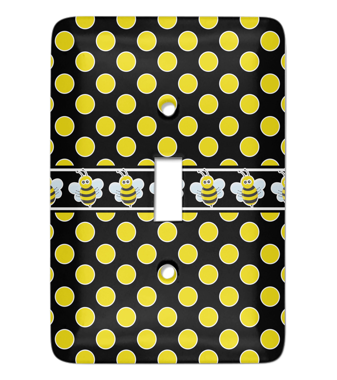 Bee Polka Dots Light Switch Cover Single Toggle Personalized