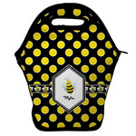 Bee & Polka Dots Lunch Bag w/ Name or Text