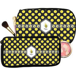 Bee & Polka Dots Makeup / Cosmetic Bag (Personalized)