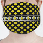 Bee & Polka Dots Face Mask Cover (Personalized)