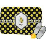 Bee & Polka Dots Memory Foam Bath Mat (Personalized)