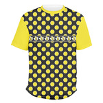 Bee & Polka Dots Men's Crew T-Shirt (Personalized)