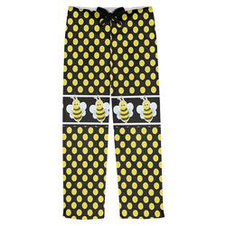 Bee & Polka Dots Mens Pajama Pants (Personalized)