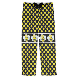 Bee & Polka Dots Mens Pajama Pants (Personalized)