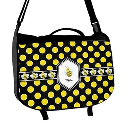 Bee & Polka Dots Messenger Bag (Personalized)